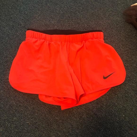 Nike Pants - NWT Nike women's running shorts orange xs